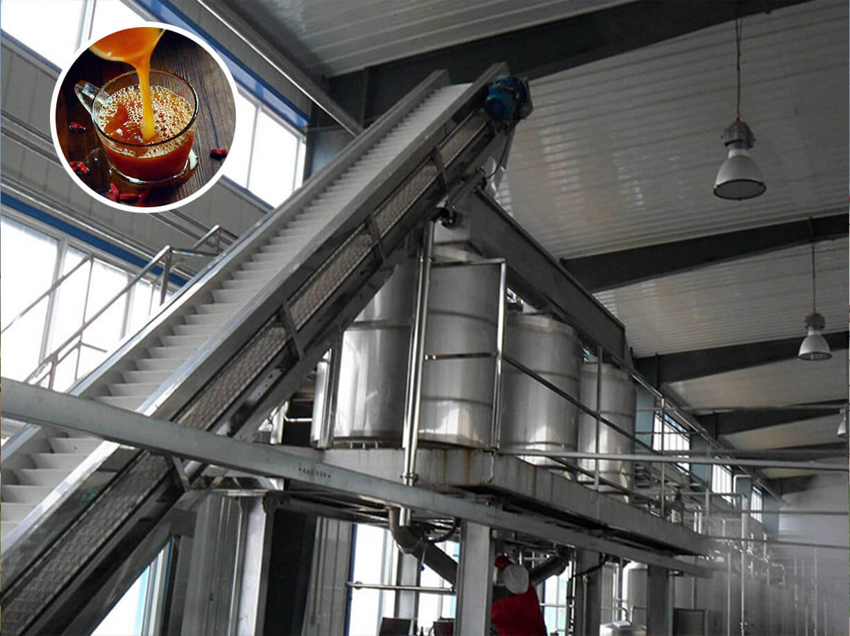 Chinese date&wolfberry juice processing line in Northwest China